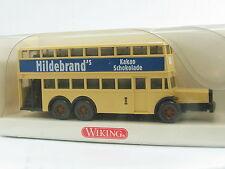 Wiking 873 03 27 Berliner Doppeldeckbus D 38 Hildebrand´s Kakao OVP (U3766)