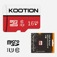 Red 1pc 16G Micro SD TF Card SDXC Class 10 Flash Memory Card 70MB/s Store Card