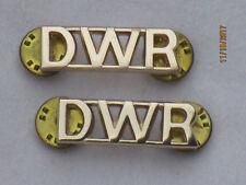 Duque of WELLINGTONS REGIMIENTO, DWR , títulos de hombro, anodizado Aluminio