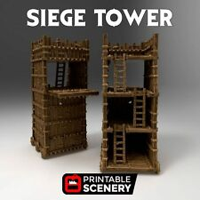 Siege Tower  28mm Tabletop Games Dwarven Forge D&D Terrain Wargaming Warhammer