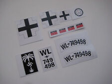 Action Man Afrika Korps Motor Bike and Sidecar Stickers - B2G1F