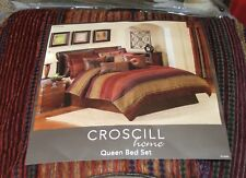 Brand New Croscill Plateau Queen Size 4 Piece Comforter Set Southwestern/Stripes