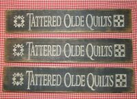 "Beautiful Rustic Primitive Sign/ Shelf sitter ""Tattered Olde Quilts"" Home Decor"