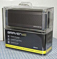 NEW BRAVEN BZ600GBA 600 BLUETOOTH SPEAKER (GRAY)