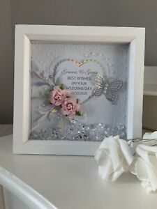 Personalised Shadow Box Frame Wedding/Birthday/Anniversary Handmade