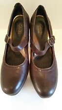 Clarks Artisian Women's Brown Leather & Suede Mary Jane Size 7.5 M