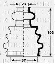 BCB2803 BORG & BECK CV JOINT BOOT KIT fits Skoda Fabia - Inner NEW O.E SPEC!