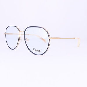 CHLOE Eyeglasses CE2163 885 Yellow Gold-Blue Rectangle Women 56x15x140
