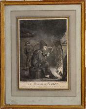 Gravure 17ème Le Plaisir du Flamand David Teniers Ferandini