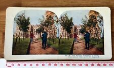Russian Cathedral Dalny Nr Port Arthur Antique 1905 INGERSOLL Colour Stereoview