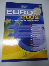 EURO 2003 - Sammlung aller KMS der 12 Euro-Staaten in stgl. komplett!