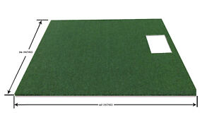 3' x 5' Golf Mat Simulator For Optishot Synthetic Grass Turf Mat With 5mm Foam