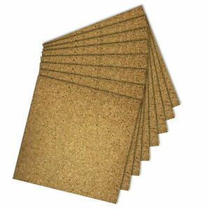 Natural Cork Tiles for Floor/Wall 300mm x 300mm ,4mm Thick Self Adhesive 12 Pcs