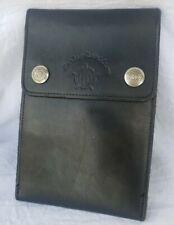 Vintage Harley Davidson Shoulder Bag Pouch Wallet Strap Belt Loops Black Leather