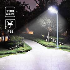 1100Lm 6500K Led Solar Powered Street Light Outdoor Pole Mount Post Lamp Ip65