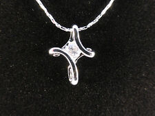 Cross Necklace Perfect Holy Communion 18k White Gold Plated Rhinestone Infinity