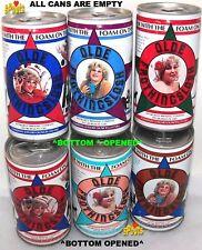 Vintage 6 Beer Can Set Miss Old Frothingslosh Tins Girl Pittsburgh,Pennsylvania