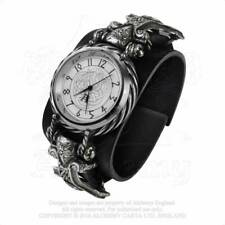 Alchemy Gothic Thorgud Ulvhammer Leather Wrist Watch - Gothic,Goth