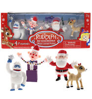 "Rudolph the Red-Nosed Reindeer Playset Santa Figurine Set 2"" Figures, 4 Piece"