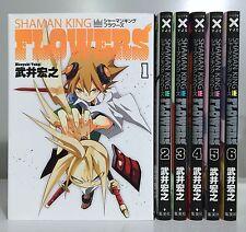 [in Japanese] Shaman King Flowers 1-6 complete set / Japan manga comic books