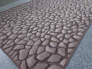 Moderner Teppich Stone Steine braun tolle Optik