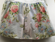 Vintage Laura Ashley Twin Bed Skirt Full Corners Made USA Floral