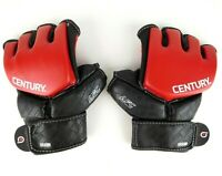 CENTURY Brave Grip Bar Half Finger Gloves Red Black Size L/XL
