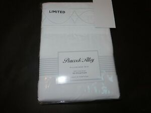 Peacock Alley Cotton Sateen Embroidered 500TC Standard Pillowcases White