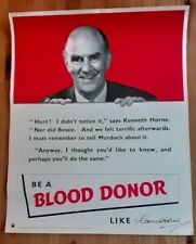 More details for round the horne kenneth horne blood donor poster early 1950s