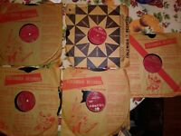 "Five old Columbia Records 10"", Percy Faith, Mitch Miller, Liberace, Sammy Kaye"