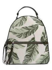 COACH Jordyn Backpack Banana Leaves Print Bag Green White Palm NWT