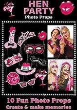 ** HEN PARTY PHOTO PROP BOOTH SET FANCY DRESS NEW ** 10PC WEDDING