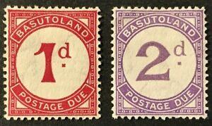 BASUTALAND Sc#J1-J2 1933 KGV Postage Due Mint LH rem. OG F/VF (O-118)