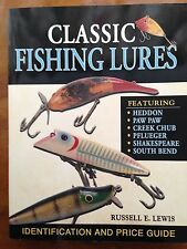 RARE 1st CLASSIC FISHING LURES by RUSSELL LEWIS VGC Spinners Pike Heddon Book