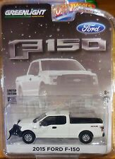 2017 Greenlight Hobby Exclusive 2015 Ford F-150 With Snow Plow White