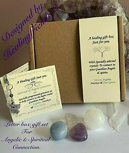 Crystal Healing Guardian Angel & Spiritual connection gift box set. Chakra.