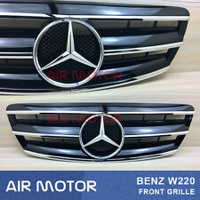 Shiny Black Front Grille For 2003-2006 Benz S-Class W220 S350 S430 S400
