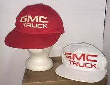 Vintage GMC Truck Red & White Snapback Caps Hats 100% Cotton