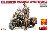 Miniart 35168 - 1/35 U.S.Military Poiceman with Motorcycle WWII Plastic Models