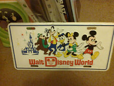 WALT DISNEY WORLD VINTAGE SIGN MICKEY MOUSE DONALD DUCK PLUTO MINNIE 30 X 16CM
