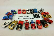 Tyco Mattel HO slot car HPX2 440X2 440 Rear silicone tires 16 piece lot .448 Dia