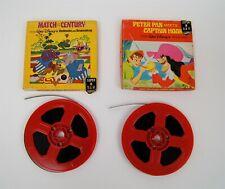 Lot of 2 Walt Disney Super 8 MM Films Peter Pan Match of the Century B&W Boxes