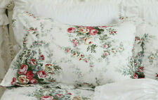 Vintage Rose Pillowcase Cover Shabby Chic Standard Sham Pink Floral Print 1 PC