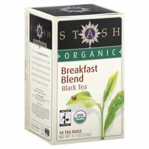 STASH TEA, TEA BREAKFAST BLEND ORG, 18 BG, (Pack of 6)