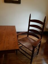 8 Antique style Ladder Back Dining Chair, handcrafted by Yarber Chair Company