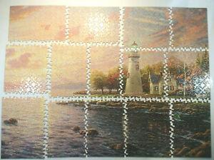 Complete THOMAS KINKADE 1000 Pc Jigsaw Puzzle 'Serenity Cove'