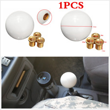 Universal Car Round Ball Resin Gear Shift Knob Stick Shifter Lever Glossy White