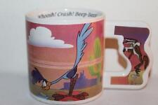Vtg 1992 WARNER BROS ROAD RUNNER WILE E COYOTE Whoosh Crash Beep Beep COFFEE MUG