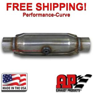 """2.5"""" AP Exhaust Middle O2 Port Catalytic Converter True OBDII - 608316"""