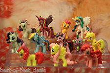 2 X Sets of 12 Pieces My Little Pony Figures 3.5 - 4.5 cm Tall (Total 24 Pieces)